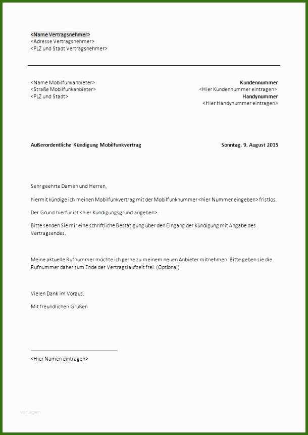 001 Fitnessstudio Vertrag Kündigen Vorlage 19