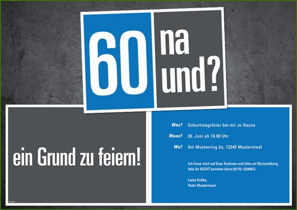 002 Geburtstag 60 Einladung Vorlage Einladungen Zum 60 ...