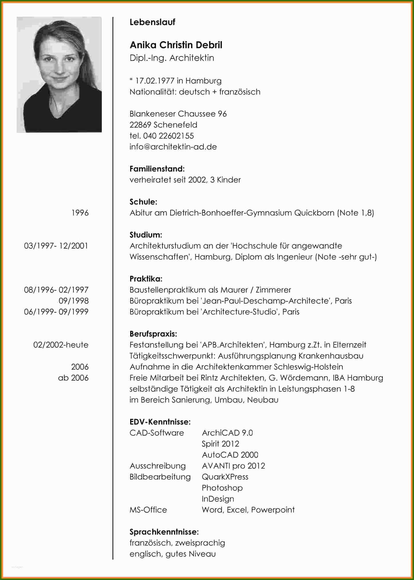 002 Lebenslauf Nach Abitur 16 Lebenslauf Mit Elternzeit ...