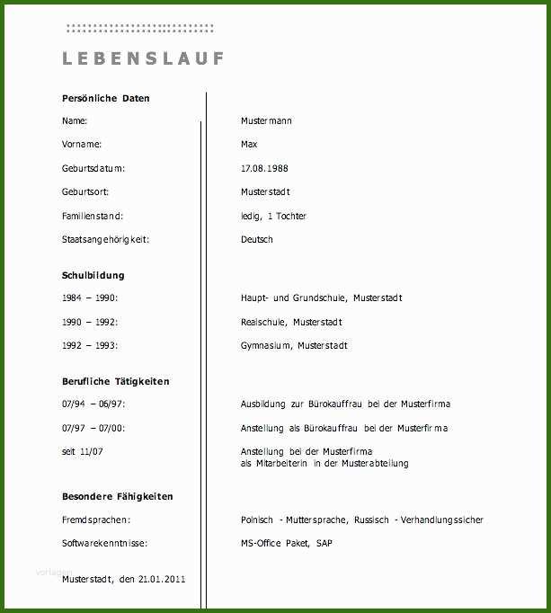 017 Perfekte Lebenslauf Der Perfekte Lebenslauf Mit Hilfe ...