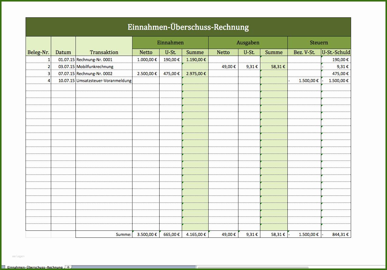 019 Gewinn Und Verlustrechnung Vorlage Excel Kostenlos ...