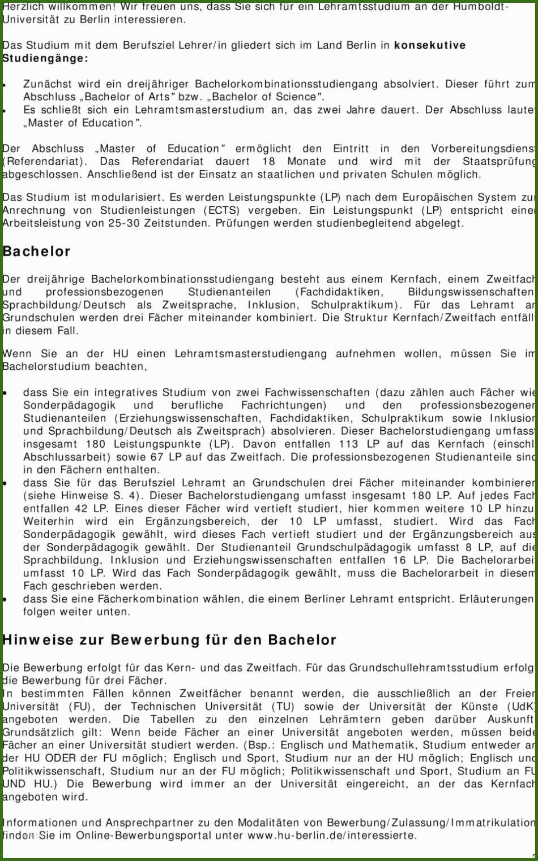 Hu Berlin Bewerbung