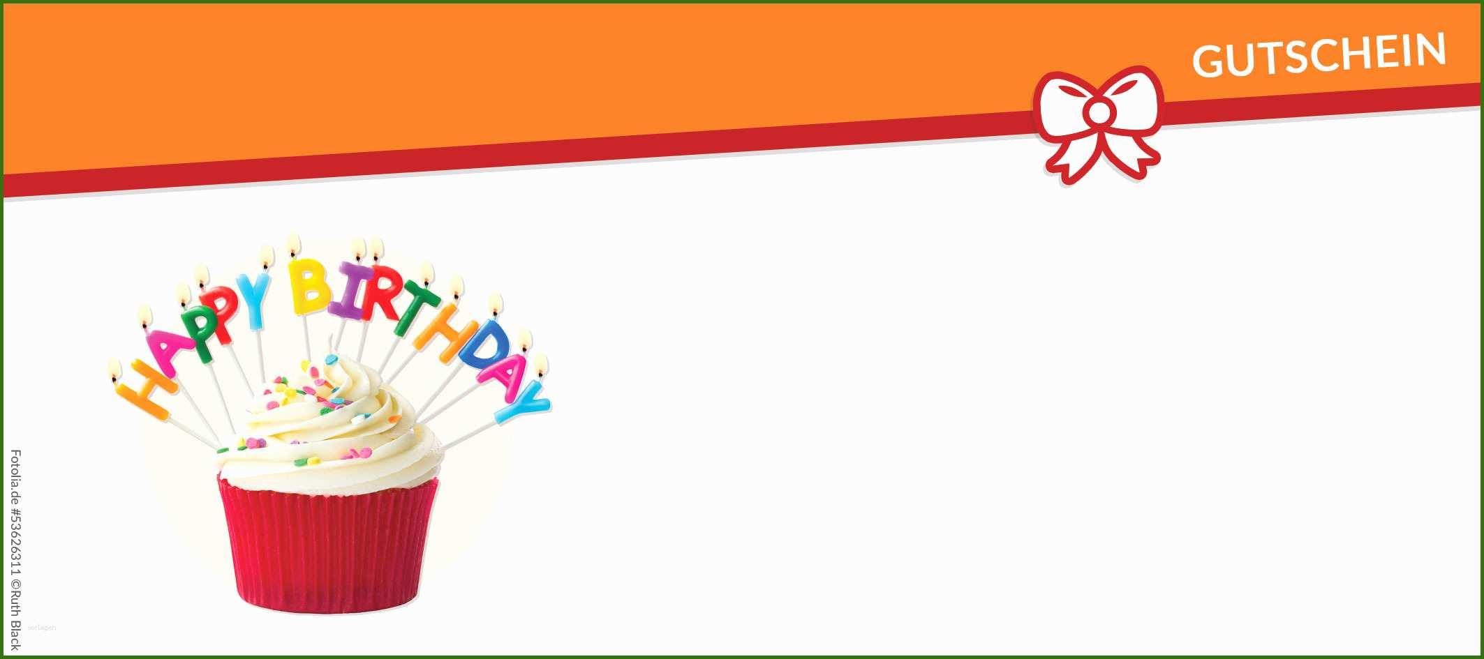 Gutschein Geburtstag Vorlage