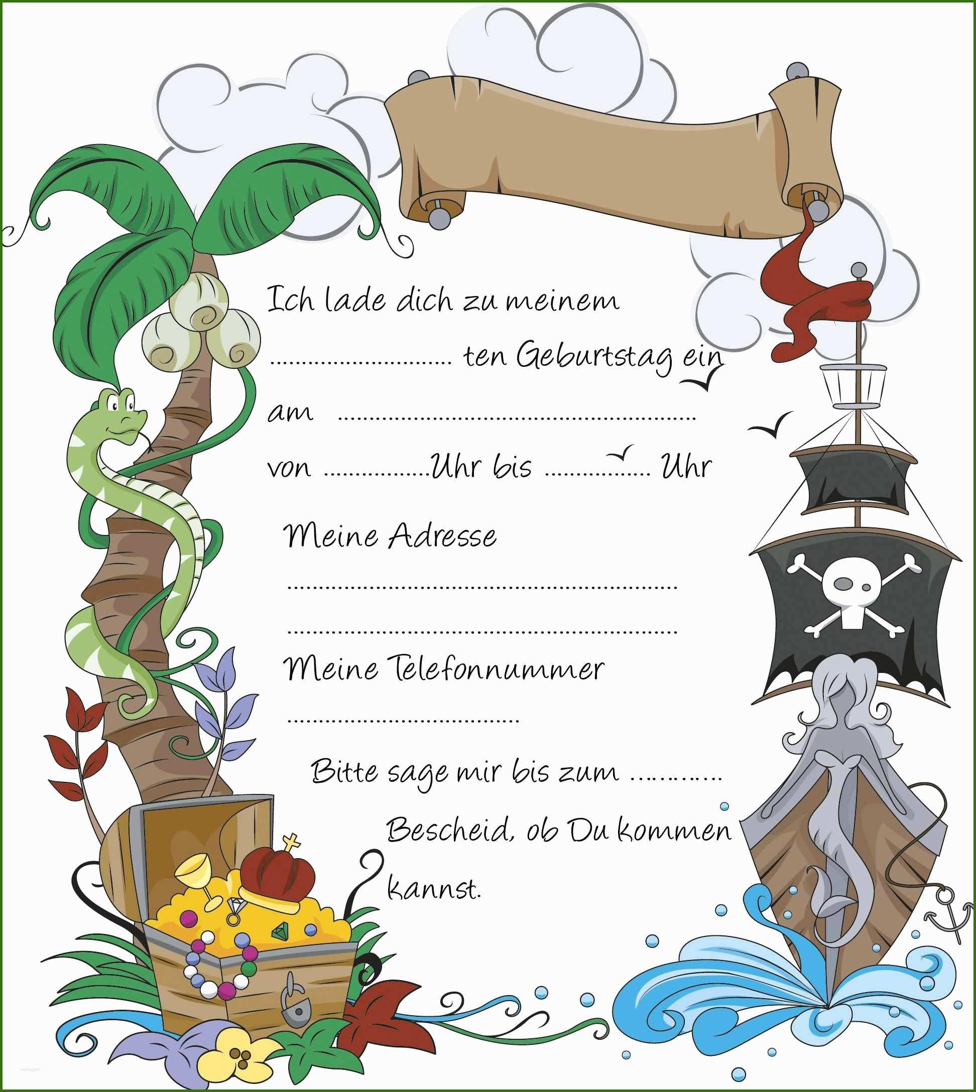 027 Einladungskarten Kindergeburtstag Vorlagen Zum