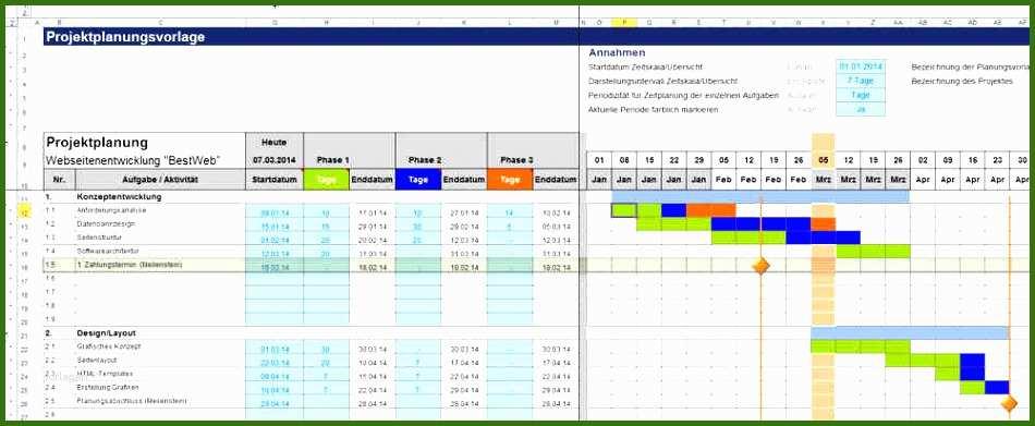 Empfohlen 11 Excel Projektplan Vorlage Kostenlos ...